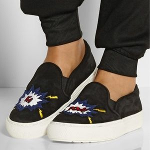 MARKUS LUPFER Ka-Pow Embroidered Slip On Sneakers